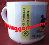 contoh mug milik PT INDOSAT