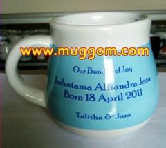 MUG GENTONG SOUVENIR ; GELAS PROMOSI GENTONG DARI KERAMIK, souvenir gentong, mug souvenir promosi, gelas promosi